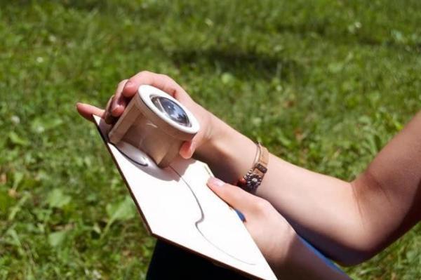让阳光帮你作画的木筒透镜创意设计