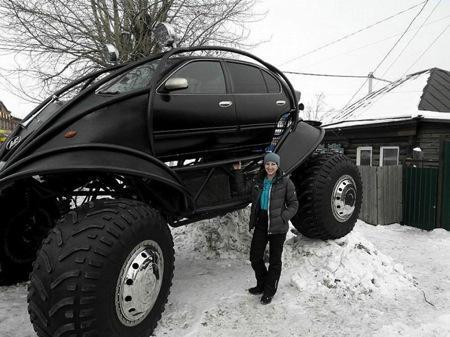 俄罗斯牛人的巨型汽车创意设计