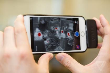 超酷iPhone配件创意,红外线夜视仪创意设计
