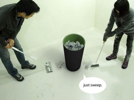 吸尘式垃圾桶创意设计