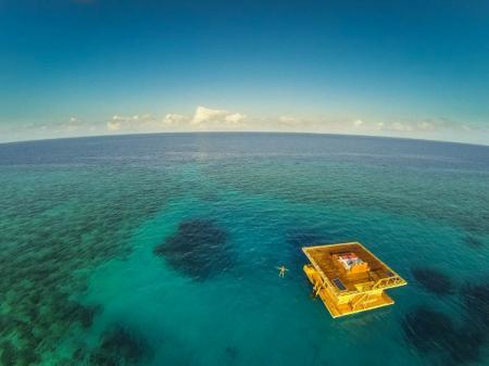 海中漂浮度假宾馆创意设计