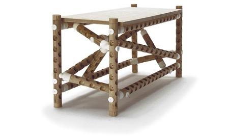 """""""千疮百孔""""的木棍连接家具创意设计"""