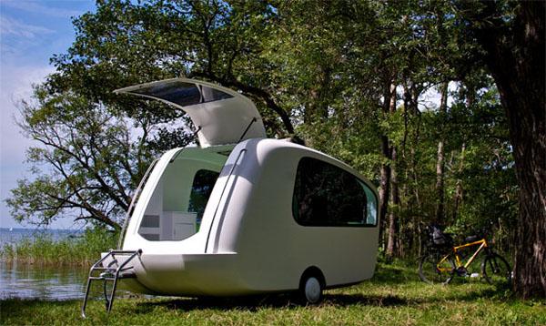 水陆两用露营拖箱创意设计