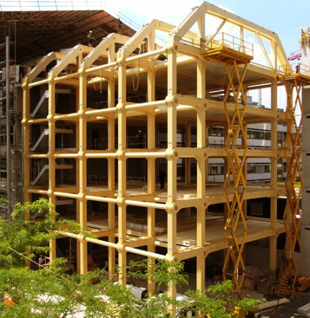 纯木框架结构的办公大楼创意设计