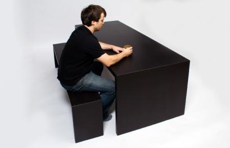 白色桌椅创意设计
