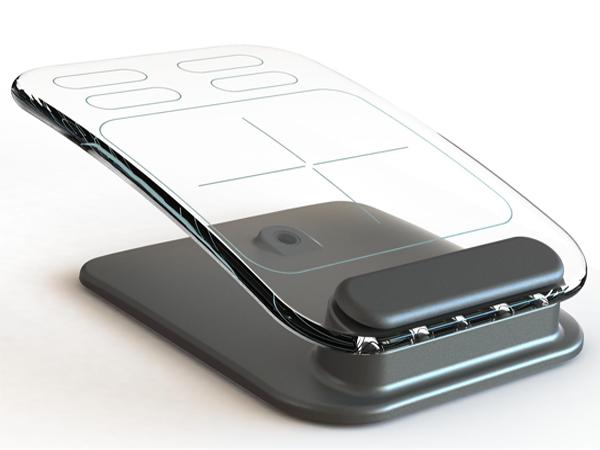 玻璃触摸键盘与鼠标创意设计