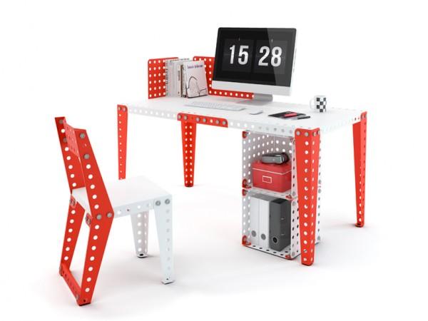 钢铁积木家具创意设计,让你随意拼装