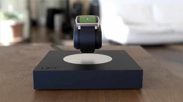Lift无线充电器:手表悬浮充电创意,还能悬浮点灯