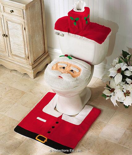"""""""圣诞老人""""马桶套装创意设计"""