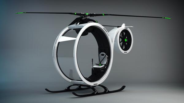 超酷0℃概念直升机创意设计