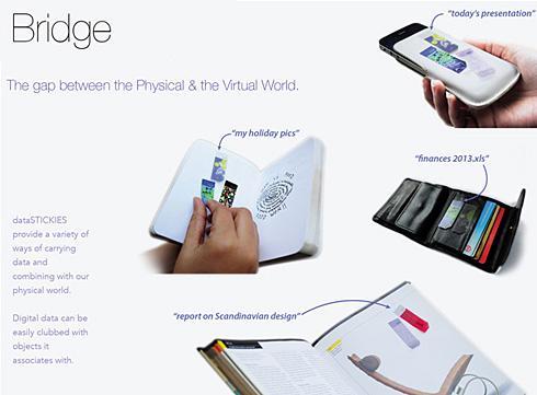 石墨烯U盘:像使用即时贴一样使用存储空间创意设计