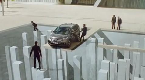本田CR-V视觉错觉汽车广告创意设计