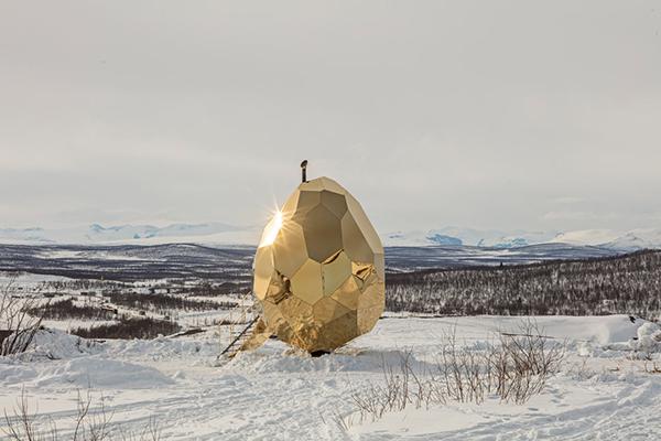 在「太阳蛋」里蒸桑拿是一种什么样的体验?创意设计