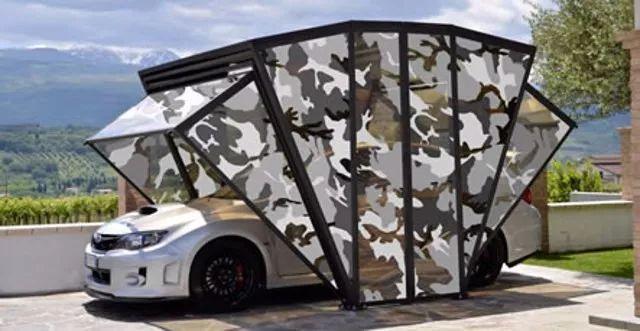 折叠车库创意设计创意,为你的爱车加一个