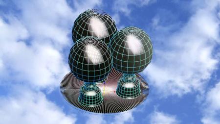 """世界上最大的太阳能""""吊灯""""创意设计"""
