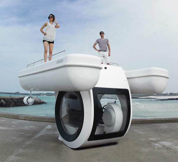 半潜水式游艇创意设计