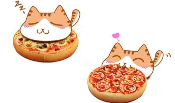 专为吃货创意设计的披萨枕垫创意设计