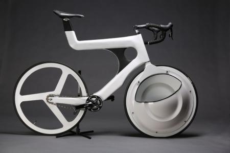 带前轮储物框的自行车创意设计