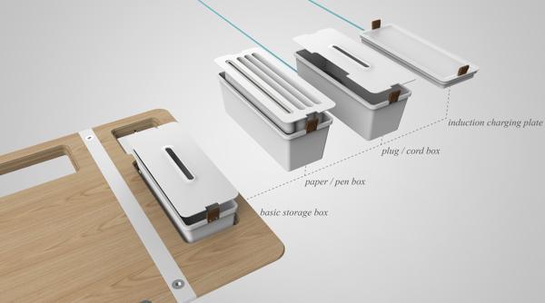 模块化收纳桌创意设计