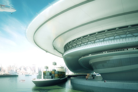 2030年未来城市交通构想创意设计