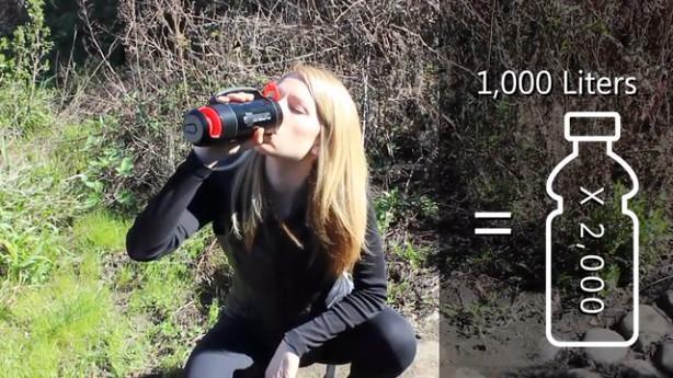 净水杯创意设计创意,打几下就能将污水变成干净水