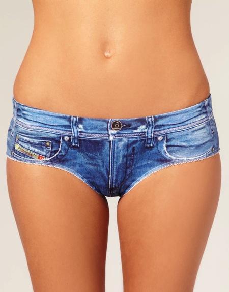 """""""牛仔""""女士内裤创意,你敢当牛仔短裤穿吗"""