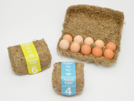 另类干草鸡蛋盒创意设计