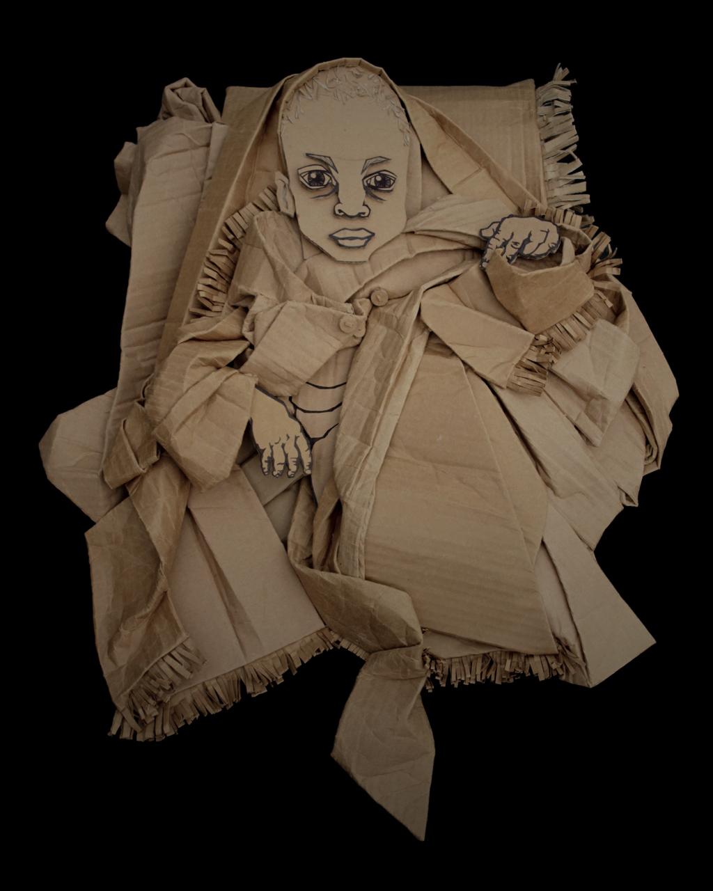 趣味纸板肖像艺术创意设计