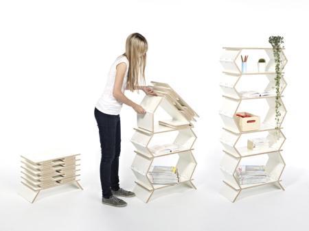 折叠式置物架创意设计