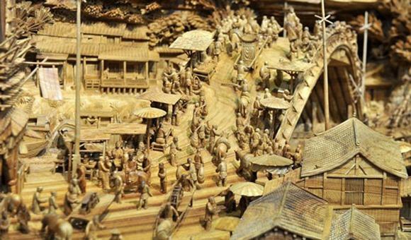清明上河图木雕—全世界最长的木雕塑创意设计