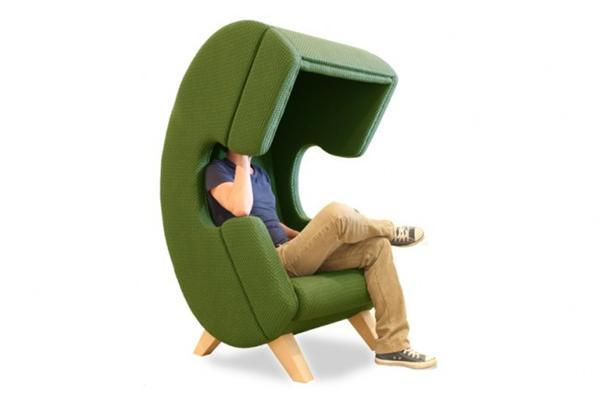 隔离外界一切干扰的座椅创意设计