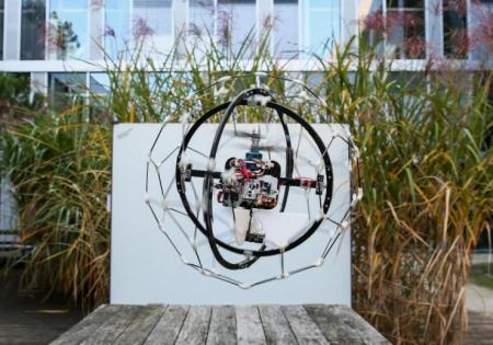 不怕碰撞的球型无人机创意设计