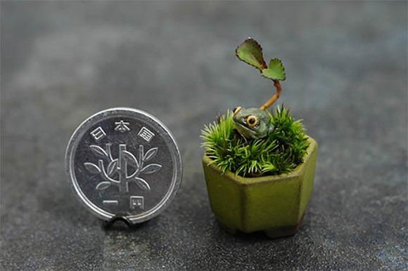 三厘米的超迷你盆景创意设计