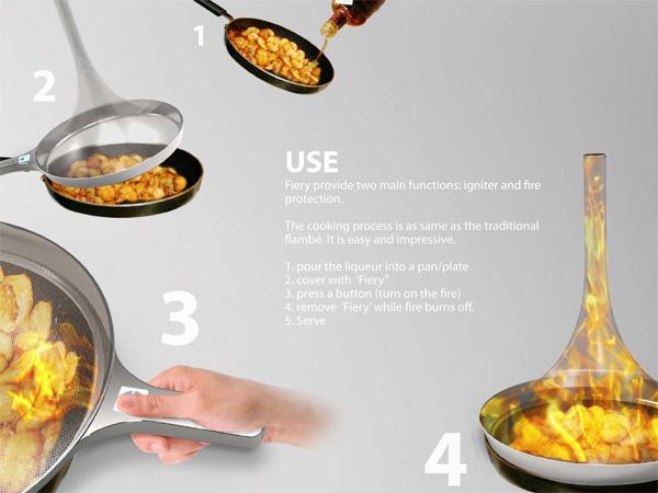 让你体现火烧食物的安全锅创意设计