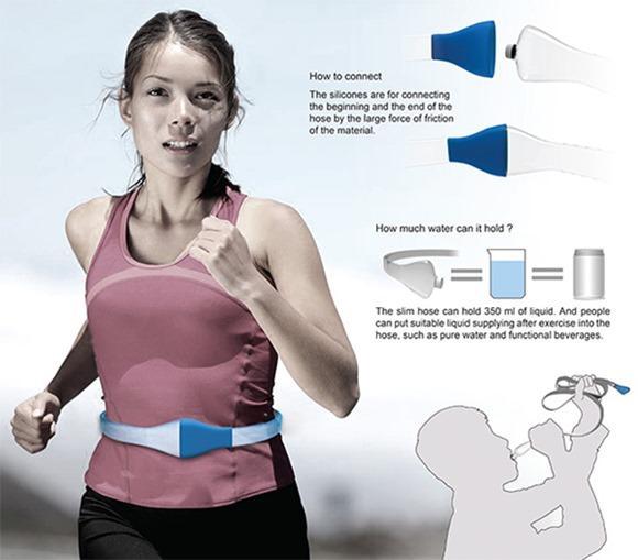 实用创意设计:腰带水瓶创意设计