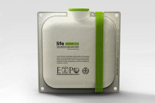再生纸水壶-Life创意设计