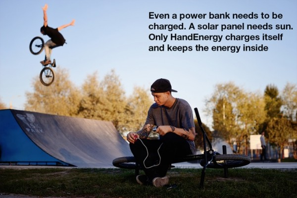 HandEnergy摇晃发电小圆球创意设计