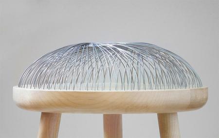 铁丝坐垫椅创意设计