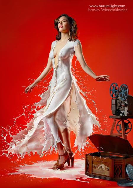 性感牛奶裙创意设计