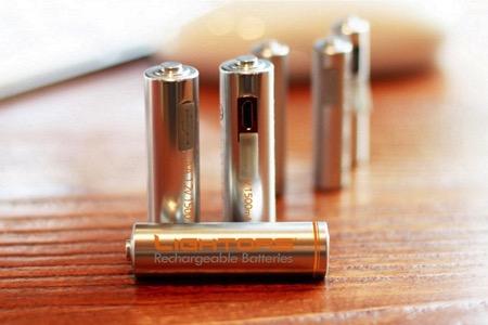 带USB充电功能的AA电池创意设计