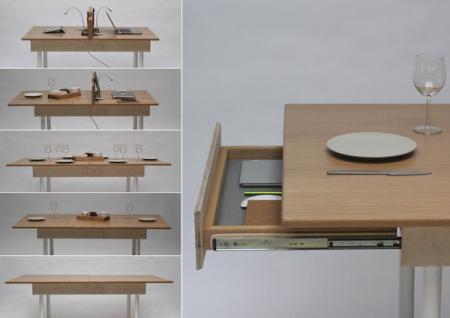 多人拉伸长桌创意设计