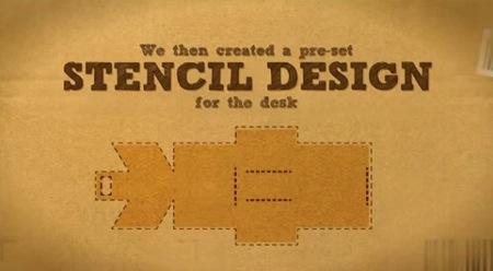 简易硬纸书包与书桌创意设计