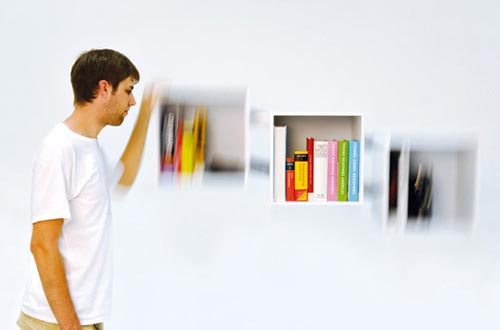 跷跷板书架创意设计