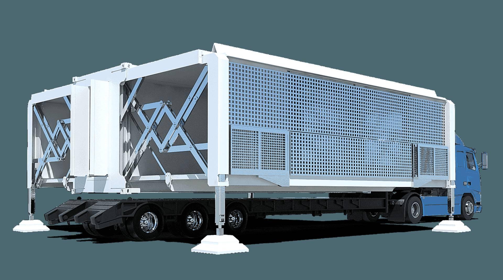 变形卡车创意,几分钟就能变成三层小别墅