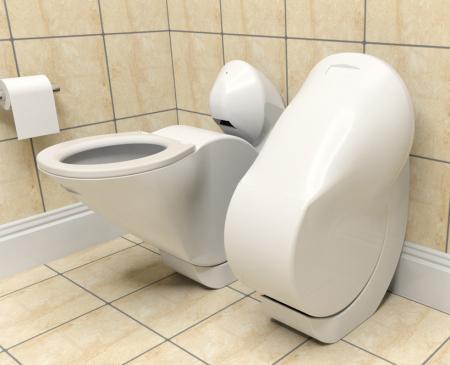 省空间的翻折马桶创意设计
