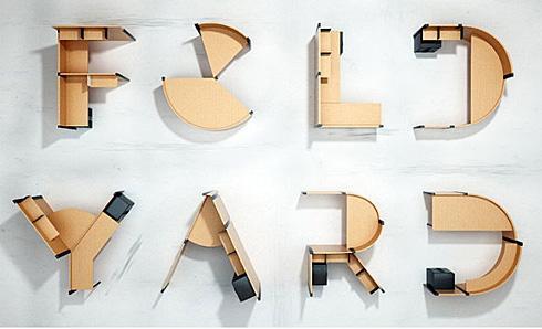 A-Z字母办公桌创意设计
