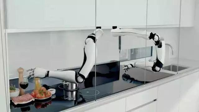 智能厨房系统创意设计,机械手帮你煮饭洗碗