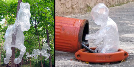 透明胶带雕塑艺术创意设计