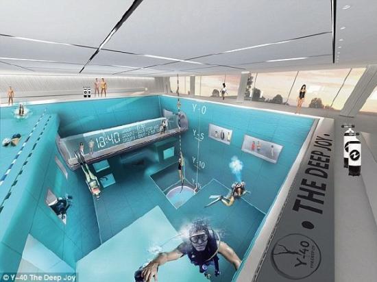 全球最深的游泳池创意,深度达40米