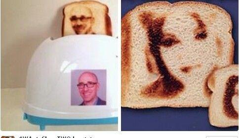 创意多士炉:可烤出印有自拍照的面包创意设计